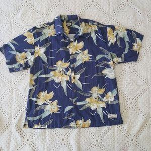 {Tommy Bahama} floral short sleeve shirt